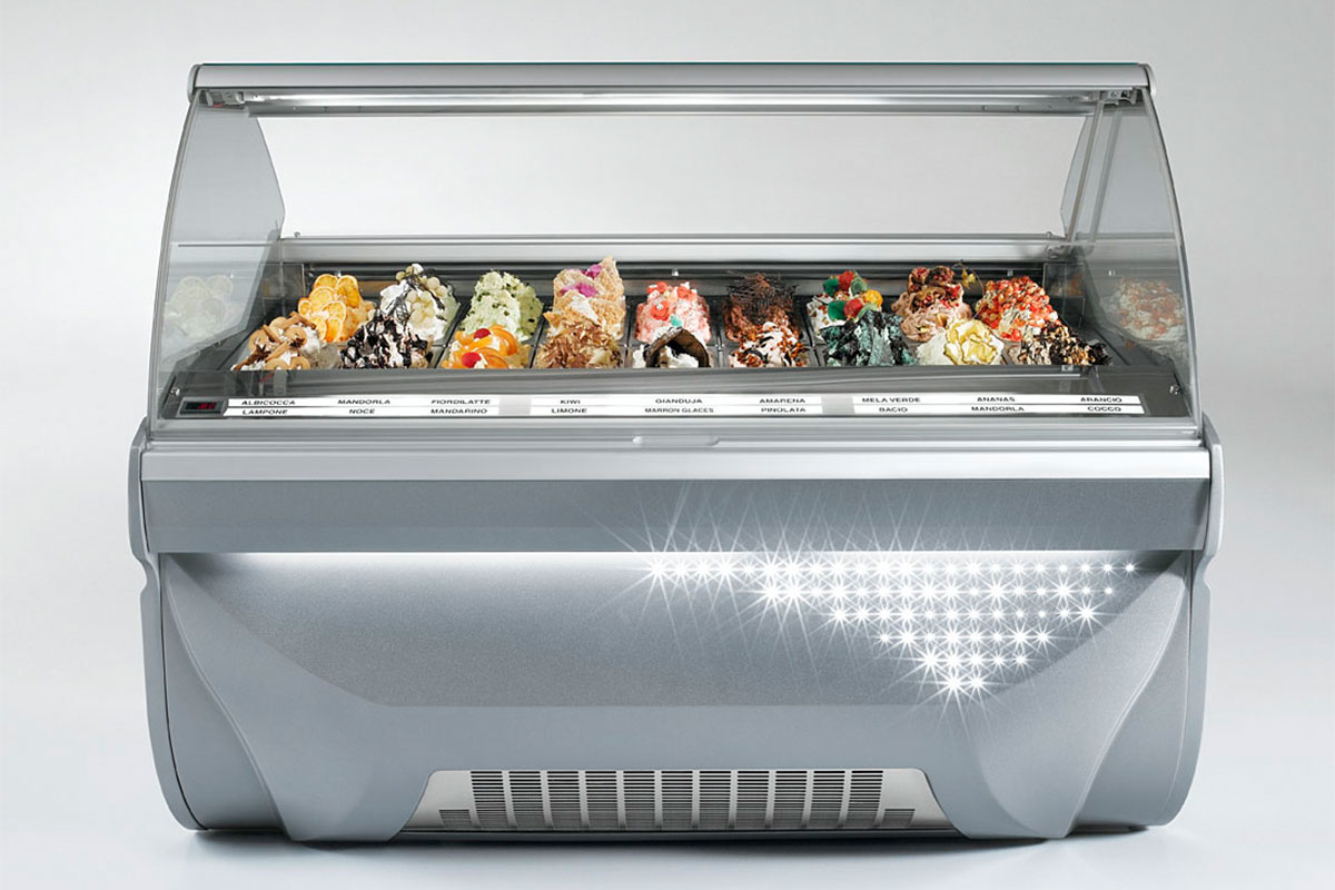 Amika Display Case Gelato Pastry Ice Cream Dipping