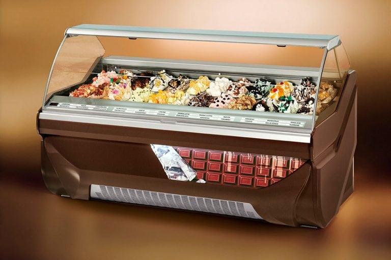 Amika Display Case Gelato Pastry Ice Cream Dipping
