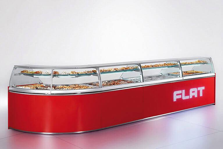 Flat Gelato Display Case