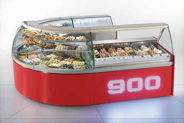 900 Ice Cream Display Case