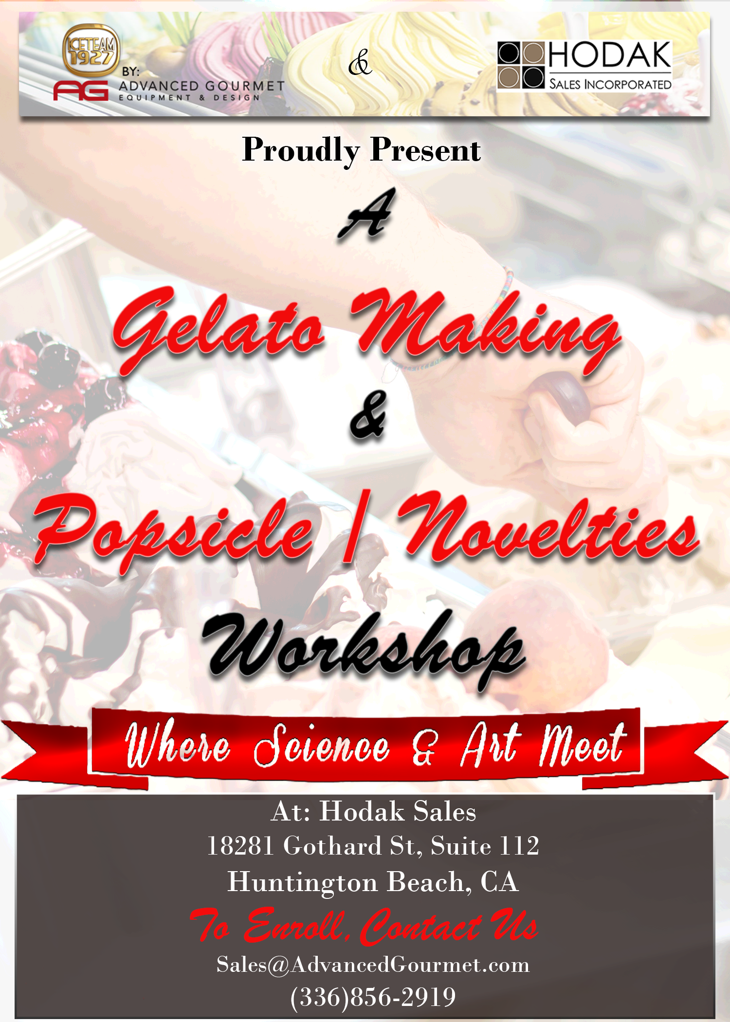 Gelato Making & Popsicle / Novelties Workshop by AG and Hodak