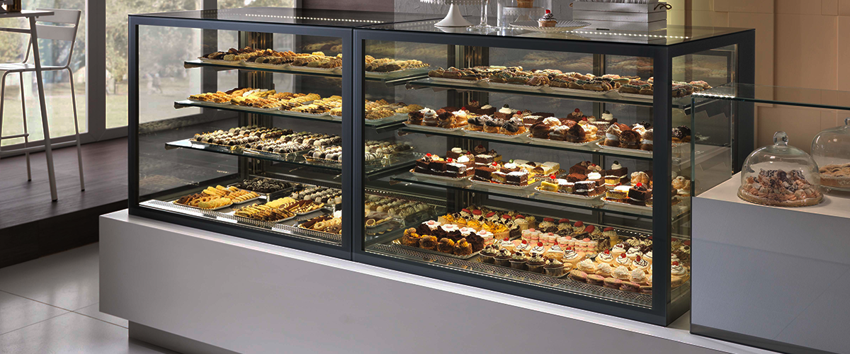 Ciam Tortuga Display Case Pastry Deli Frozen Heated
