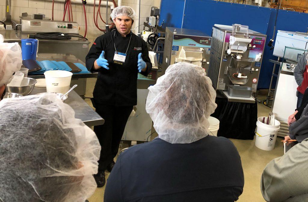 Chef Plamen leading an ice cream production course.